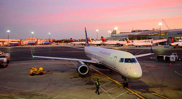 Boston Logan Airport served 33 Million passengers in 2015.